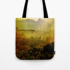 Mist in the hills Tote Bag