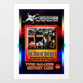 The King of Arcades Card Art Print