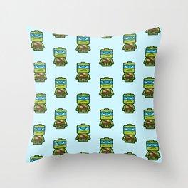 Chibi Leonardo Ninja Turtle Throw Pillow