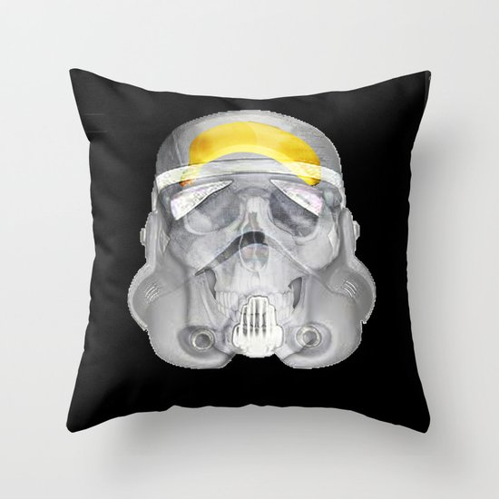 stormtrooper x-ray Throw Pillow