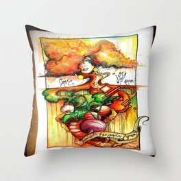 How Does Your Garden Grow Throw Pillow