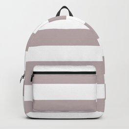 Black Shadows - solid color - white stripes pattern Backpack