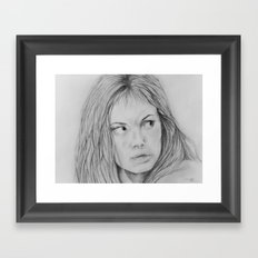 Angelina Jolie - Girl interrupted Framed Art Print