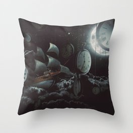An Adventure in Time Throw Pillow