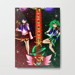 Fusion Sailor Moon Guitar #28 - Sailor Mars & Sailor Neptune Metal Print