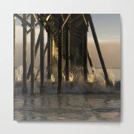 Under the California Pier Metal Print