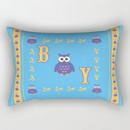 Owl Baby Boy Rectangular Pillow