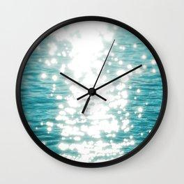 Sun glitter Wall Clock