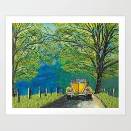 Tennessee Cabriolet Spring Drive Art Print