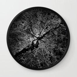 philadelphia map Wall Clock