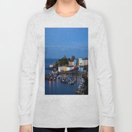 TENBY HARBOUR. PEMBROKESHIRE.WALES. Long Sleeve T-shirt