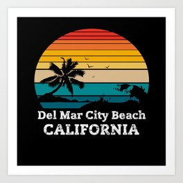 Del Mar City Beach CALIFORNIA Art Print