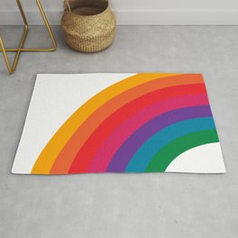 Retro Bright Rainbow - Left Side Rug