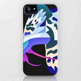 Guppy Platinum Blue Dragon iPhone Case