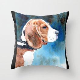 Bonny Beagle Throw Pillow