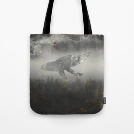 Dream Space - Surreal Image with A Whale Tote Bag