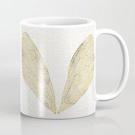 Cicada Wings in Gold Coffee Mug