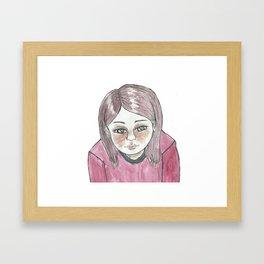 Uma menina triste. Framed Art Print