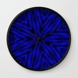 Deep Blue Paper Snowflakes Wall Clock