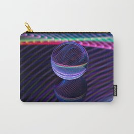 Checkered lines in the glass ball Carry-All Pouch