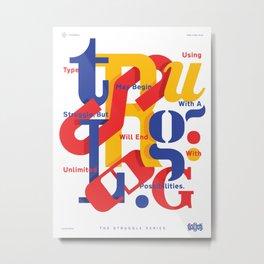 TSS 001 : Typography Metal Print