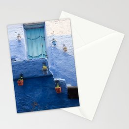 Doors - Chefchaouen IV, The Blue City - Morocco Stationery Cards