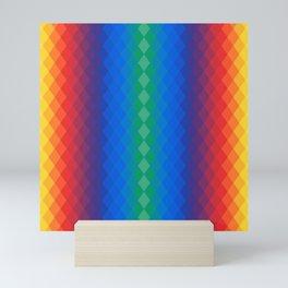 Rainbow rhombuses Mini Art Print