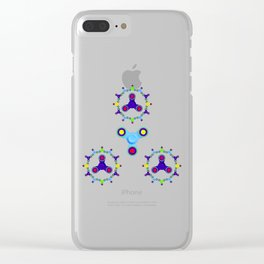 Fidget Spinner Design version 3 Clear iPhone Case