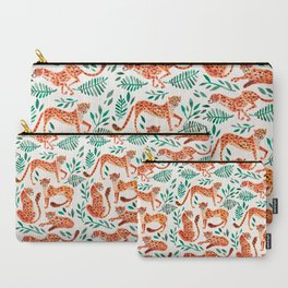 Cheetah Collection – Orange & Green Palette Carry-All Pouch