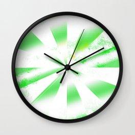 Green abstract spiral shapes Wall Clock