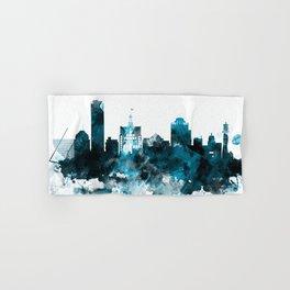 Milwaukee Monochrome Blue Skyline Hand & Bath Towel