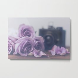Photogenic Purple Roses Metal Print
