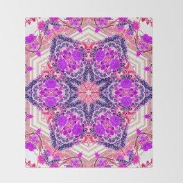 bouquet-lined bridges mandala Throw Blanket