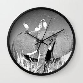 Night elefant Wall Clock