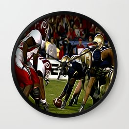Amerika Football Wall Clock