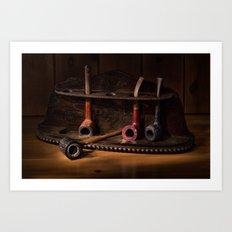 The Pipe Rack Art Print