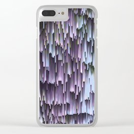 Lilac Blue Sky Abstract Clear iPhone Case