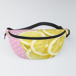 Candy Pink and Lemon Polka Dots Fanny Pack