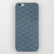 Blue Indigo Denim Waves iPhone Skin