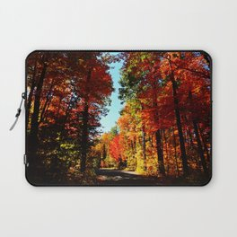 Fall Forest Road Laptop Sleeve