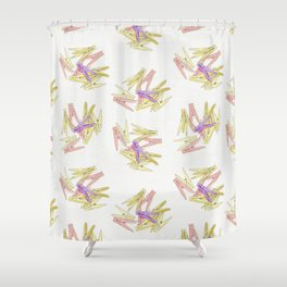 Сlothespins Shower Curtain