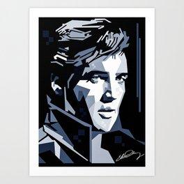 Elvis Presley canvas print Art Print