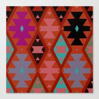 bohemian Canvas Prints featuring bohemian by spinL