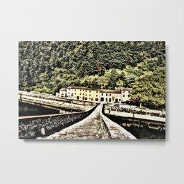 Ponte della Maddalena-Tuscany, Italy Metal Print