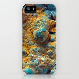 Bubbly Turquoise with Rusty Dust iPhone Case