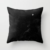 Throw Pillows featuring Gravity by Tobe Fonseca