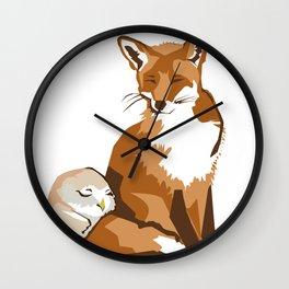 El zorro y la lechuza Wall Clock