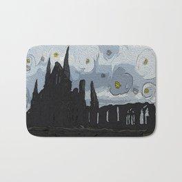 Gothic castle landscape Bath Mat