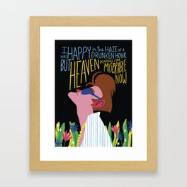 The Smiths - Heaven knows I'm miserable now Framed Art Print
