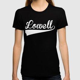 LOWELL Baseball Vintage Retro Font T-shirt